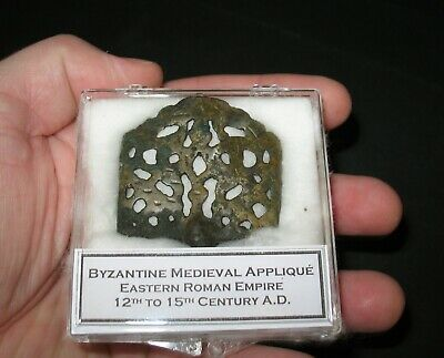 Roman Byzantine empire medieval bronze applique 1000 yrs old display case #5
