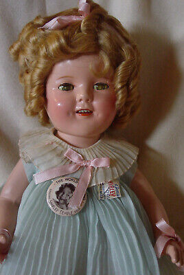Ideal Vintage Composition Mint Gorgeous Shirley Temple Doll With Original Pin!