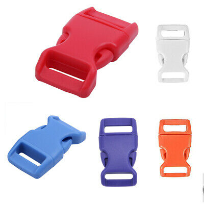 10x 15mm Plastic Side Quick Release Buckles For Webbing Bag Strap Clips 5/8 G6X9