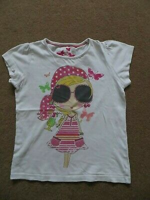 Girl's T-Shirt / Vests (X3) - Age 7-8 Years (White)