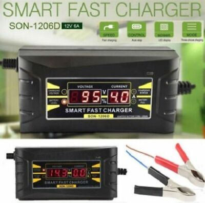 Automatic Electronic Car Battery Charger 6A Fast/Trickle/Pulse Modes 6 AMP