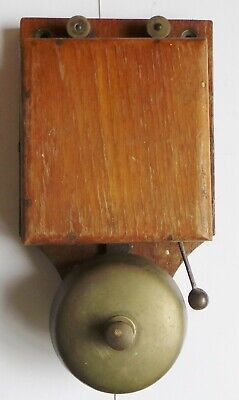 Antique Edwardian Electric Bell / Butlers  Bell - Door Bell - Wall Mounted
