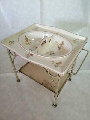 1900s Antique french washstand for children /  French Sarreguemines Kate Greenaw