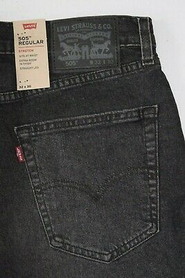 BNWT Black Levi's 505 Regular Men's Jeans:  005051594