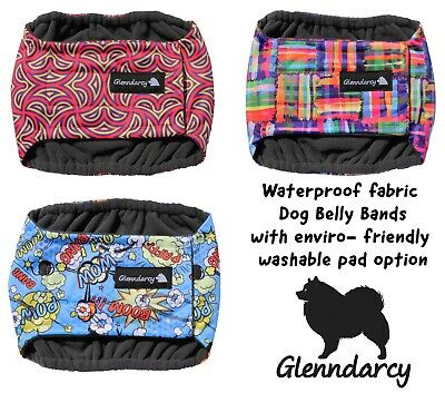 Glenndarcy Waterproof fabric Male Dog Belly Band Nappy - Urine Incontinence