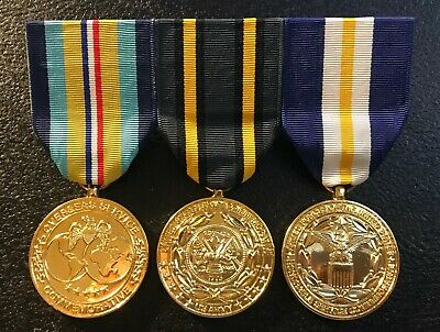 Anodized Commemorative Medals OVERSEAS SERVICE, ARMY, HONORABLE SERVICE -MOUNTED