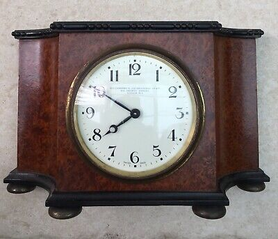 Mantle Clock by Goldsmith and Silversmith Co Ltd Swiss Made