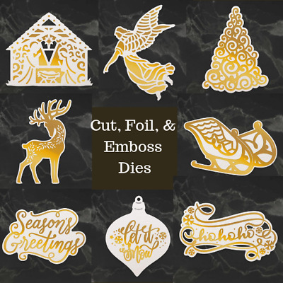 Couture Creations Cut, Foil & Emboss Dies - Naughty or Nice - Choose from 8