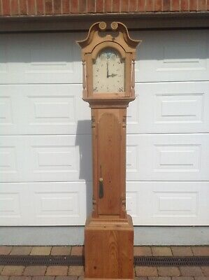 Antique Pine Long Case Clock