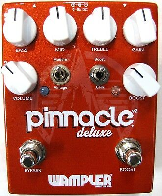 Used Wampler Pinnacle Deluxe V2 Overdrive Guitar Effects Pedal