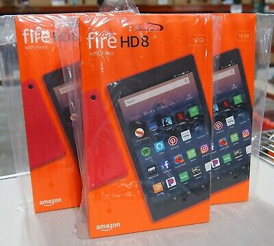 Amazon Fire HD 8 Tablet, 16 GB, Wi-Fi, 8 inch - Punch Red - with Special Offers