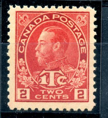 Weeda Canada MR3b F/VF MNH 2c+1c rose red 1916 Admiral War Tax CV $132.50