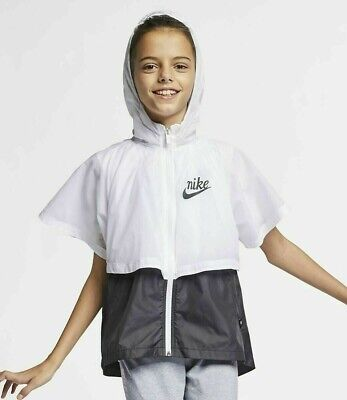Nike Sportswear Water Repellent Windrunner Jacket - Kids Girls Aq9708-100 M L Xl