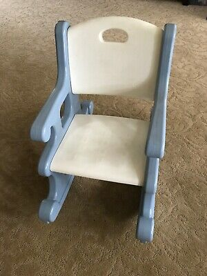 Incredible Vintage Little Tikes Rocking Chair Blue White Victorian Beatyapartments Chair Design Images Beatyapartmentscom