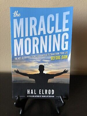 The Miracle Morning By Hal Elrond Paperback Book Very Good Free Ship In Box