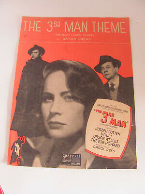 1949 Movie Piano Solo Sheet Music From The 3Rd Man Theme (The Harry Lime Theme )