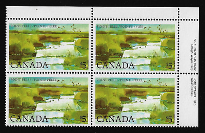 Canada — Block of 4 UR (Plate 3) — 1984, Point Pelee National Park #937ii — MNH