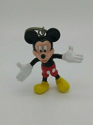 Disney Parks Mickey Mouse Posable Rubber Keychain