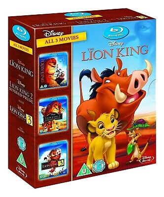 The Lion King Trilogy 1-3 [Blu-ray] 1 2 & 3 Simbas Pride and Hakuna Matata