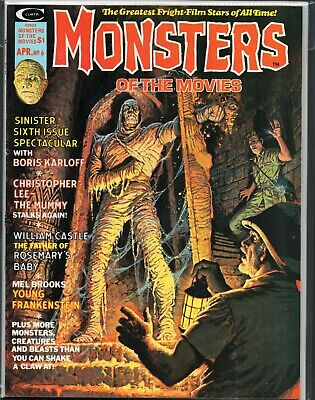 Monsters Of The Movies # 6 Magazine The Mummy Christopher Lee 1974