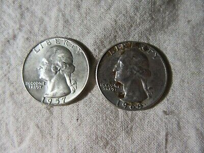 Usa  Quarter Dollars  1957, 1964     2 Coins