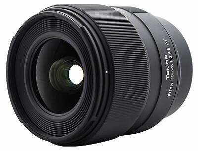 Tokina Firin 20Mm F2 Fe Af Lens - Sony E Mount Full-Frame Format New