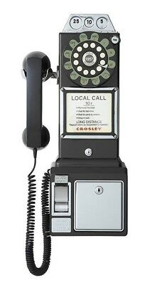 Old Fashioned Phone Retro Vintage Large Antique Wall Mountable Corded Payphone