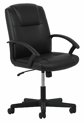 Essentials Leather Executive Office/Computer Chair with Arms - Ergonomic Swiv...