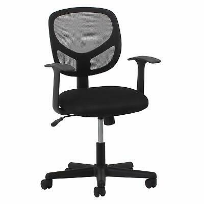 Essentials Swivel Mid Back Mesh Task Chair with Arms - Ergonomic Computer/Office