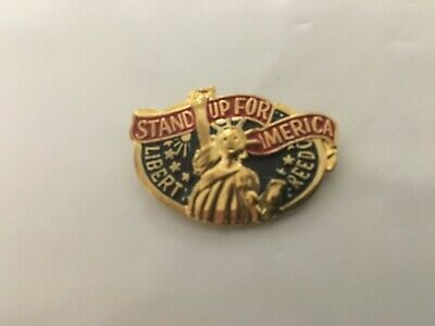 Stand Up For America Patriotic Hat Pin