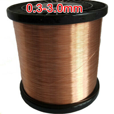 Reel of Copper Wire Round Solid Bare Craft Jewellery Making Size 0.3mm-3.0mm DIY