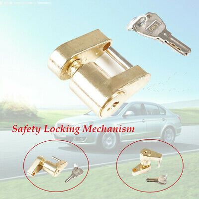1 x Small Trailer Lock Tow Hitch Ball Bar Trailer Coupler with 2 Key  Protection