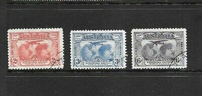 Stamps Aust Pre Decimal 1931 Kingsford Smith Set Fine Used