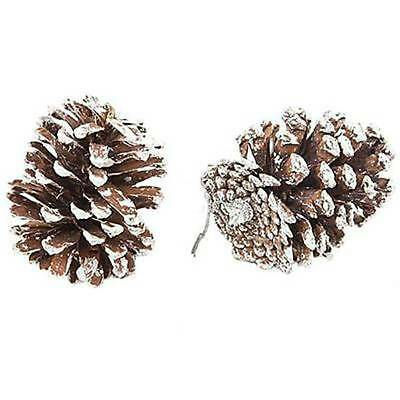 9X Real Natural Small Pine Cones Art Pendant Craft for Chirstmas Tree Decoration