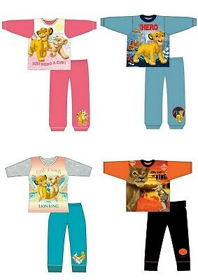 Girls Kids Children Disney Lion King Long Sleeve Pyjamas Pjs 18months - 10 Years