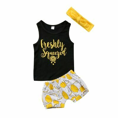 Toddler Outfit Kid Children Baby Boy Girl Tops Sleeveless T Shirt Pants Trousers