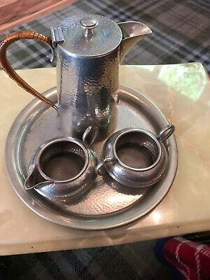 Stylish Art Nouveau Argent Pewter Coffee Set