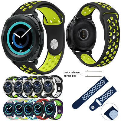 for Samsung Gear S3 / Sport / S2 Classic  Band, Soft Silicone Sport Watch Strap