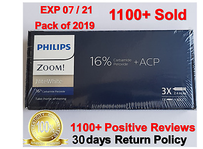 Original Philips Zoom 16 % NiteWhite 3 x Syringes- UK Stock- Exp 07-2021 on sale