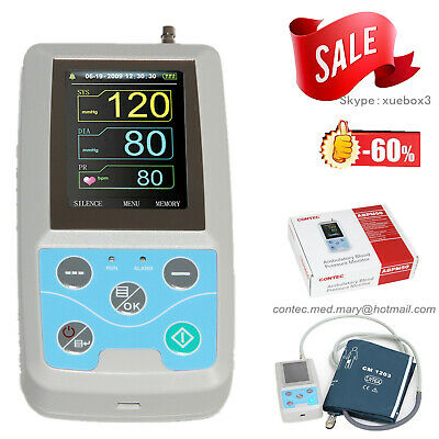 NIBP Ambulatory Blood Pressure Monitor Holter ABPM50 USB Software 24 Hour Record