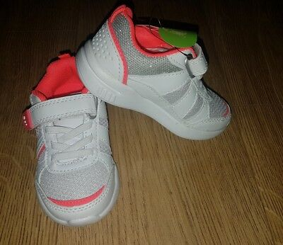 TU Girls White Trainers size infant 7 New - very light shoes