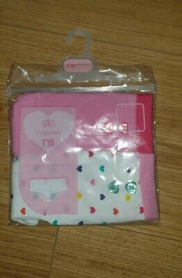 Girl's x2 pack Hipsters Pants 2-3 years by MOTHERCARE Underwear girls NEW