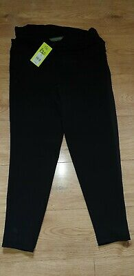 Maternity Black Trousers size 8R Blooming Marvellous Pregnancy Summer Trousers