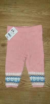 Mothercare Baby Dark Girl Pink Trousers 6-9 months NEW