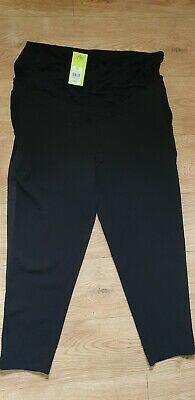 Maternity Black Trousers size 14R Blooming Marvellous Pregnancy Summer Trousers