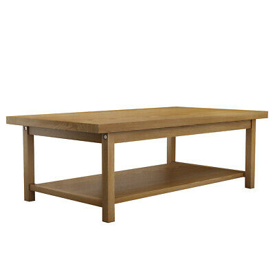 Classical Furniture wood solid Oak Coffee Table Desk big size with shelf