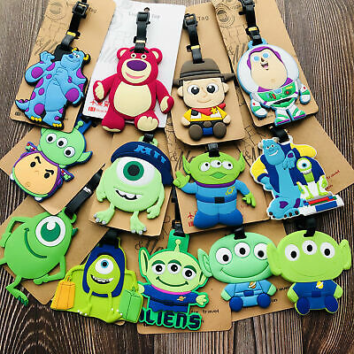 toy story aliens woody Anime Luggage Tag PVC Travel Label boarding tags new