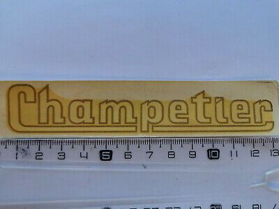 Décalcomanie ancienne moto scooter CHAMPETIER 1950/60's. Vintage water decal NOS