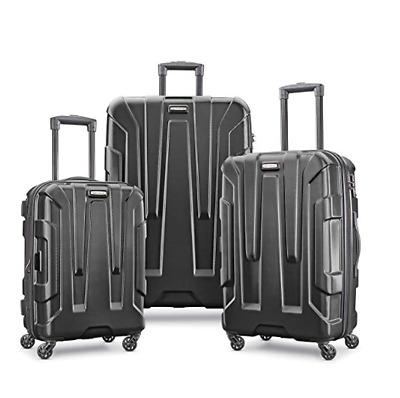 Samsonite Centric Expandable Hardside PC Luggage Set With Spinner Wheels Black