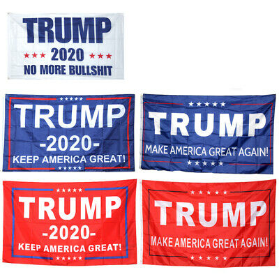 5x Donald Trump Garden Flag Keep Make America Great Again For 2020 President 5FT